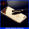 For iphone 6s Metal Bumper Mirror Back Mobile Phone Case
