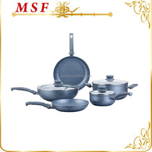new European style forged aluminum nonstick marble coating cookware