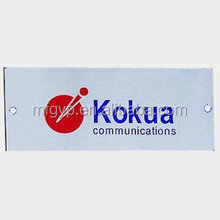 custom metal logo nameplate brand plate