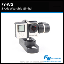 FY-WG wearable gimbal 3 axis gimbal on bike/ car,/helmet,/motorbicycle/head/ wrist/ waist/racing/mountain climbing