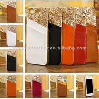 Waterproof Case For iPhone5C,Genuine Leather Wallet Card Holder Faceplate Case Cover For Apple iPhone 5S 5C