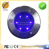 Super capacitor bright solar glass round led garden street light