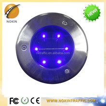 Super capacitor bright solar glass round led garden street light
