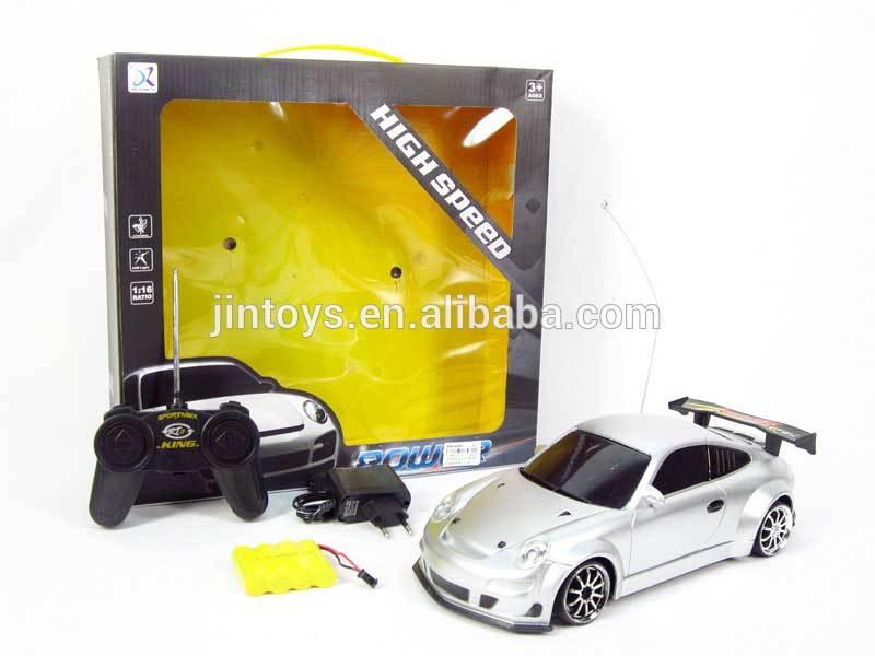 De plástico de juguete forma 4 r/c del coche con la luz( 3 color)