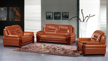 Orange Red High Quality Comfortable Leather 1+2+3 Seater Chesterfield Sofa , Modern Classic Sofa , Living room sofa