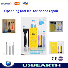 KAISI 3688 10 in1 mobile phone repairing tools Opening Tool Screwdriver Repair Kit Set screws mat screwmat for Phone 4 4S iPad