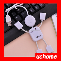 UCHOME New Cute Human Shape Laptop Notebook PC USB 2.0 Hub 4 Port Split Extention