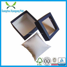 high quality elegant portable cardboard paper watch box with pvc window