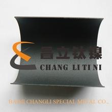 bent titanium anode plate for seawater/ brine water/ NaCl electrolysis