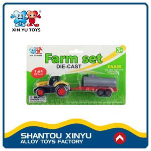 1: 64 diecast modelo de juguete camión tractor agricultor logotipo personalizado con moq bajo