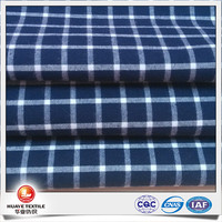 new design yarn dyed carbon peach navy and white check cloth fabrics