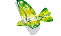 New Toy! Flocking Rc Flying Bird With Sound /LED Light TL001-04AB