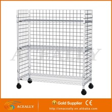 two layer moving matel wire storage