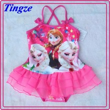 Frozen 2015 kids elsa dress costume swimwear HZD58