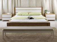Elegant classical bamboo double bed design furniture