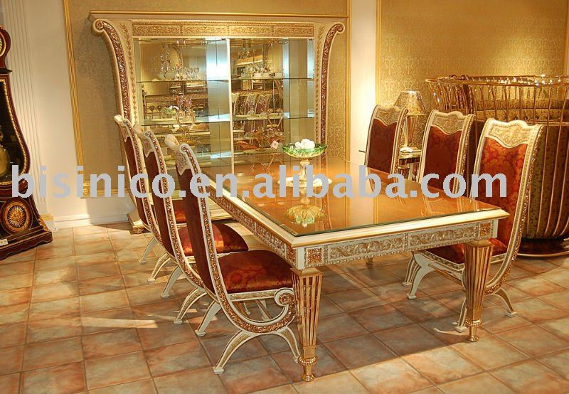 luxury classical dining room furniture set soild wood hand carved