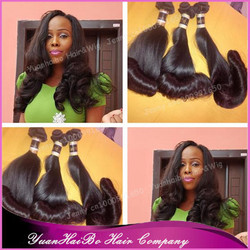Hot Selling 7A Grade! 3pcs #1b russian tip bounce curls virgin brazilian funmi hair weaves