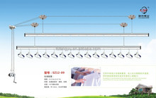Ceiling Mounted Double Pole Hanging Clothes Rack For Balcony