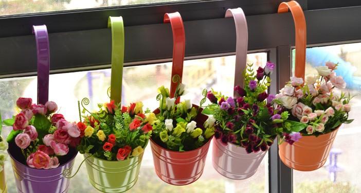 Как цветы сажать в подвесные кашпо на улице 516