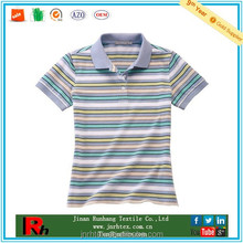 Alibaba china custom anti-microbial women stripe bamboo polo