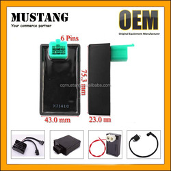 Pack of Racing Cdi Box 6 Pin + Ignition Coil + 3 Electrode Spark Plug for Gy6 50cc 125cc 150cc Scooter Moped