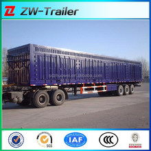 van type transport semi trailer china truck trailer box semi trailer for sale