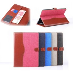 For ipad air 2 Jeans leather case, protective case for ipad 6