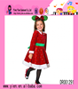 Popular Fashion Red Fur Warm Dress Top Quality Wholesale Princess Christmas Dress For Girl