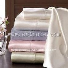 Luxury Silk Fitted Sheet With Differ Color
