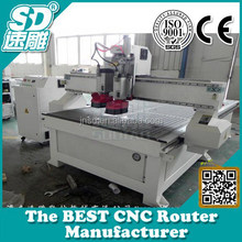 Resistance special plate, epoxy resin,ABS,PP,PE and other carbide mixed compounds Double-Process woodworking CNC Router SD-1325D