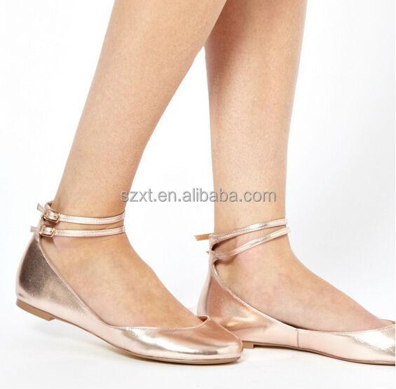 White Flat Ballet Type Shoes