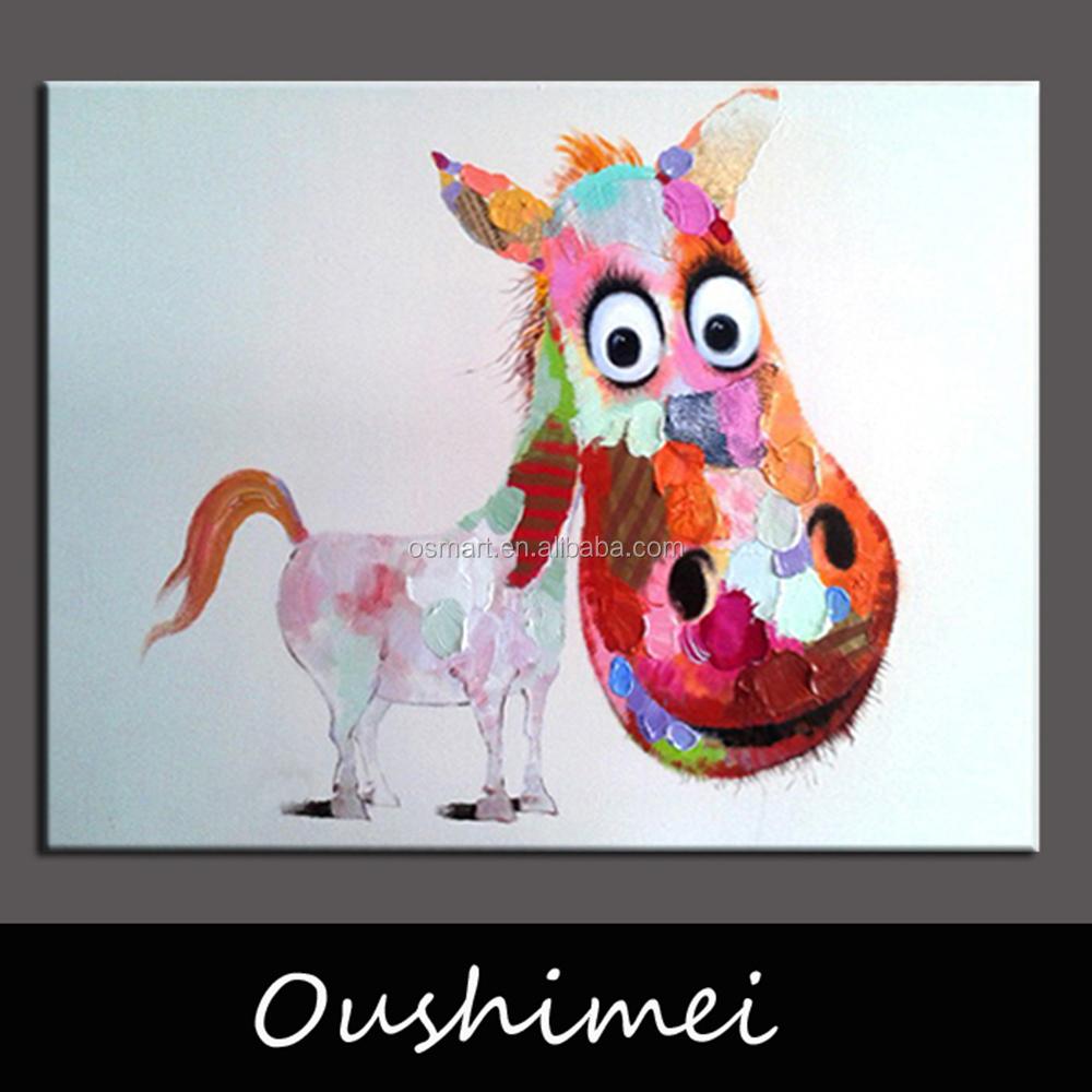 재미있는 말 현대적인 추상 동물 사진 홈 장식 유화 그림 Amp 서예 상품 Id 60181797005
