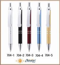 Latest popular metal push action ballpoint pen 704