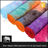 Woman large blanket microfiber beach towel with the logo