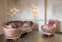 Luxury Pink Gold Leaf Classic Sofa 10