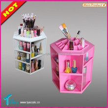Promotion Disassemble Rotating Clear Plastic Cosmetic Makeup Organizer Case