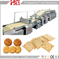 HG stainless steel gas heating Oreo biscuit production machine
