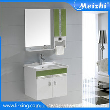 Sanitary ware PVC black cabinet bathroom vanity sink