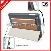 new design Dustproof function pu leather case for ipad mini