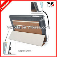 new design Dustproof function pu leather case for ipad mini