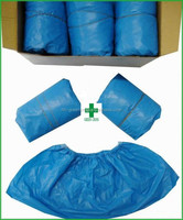 Disposable non-woven CPE laborotary use dust/water proof shoe cover