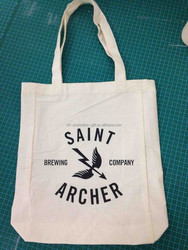 5oz 150gsm natural color cotton handled style eco friendly bag for promotional usage