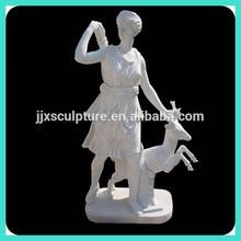 Mármol blanco famosa Artemis estatua
