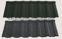 Antique corrugated steel shingle heat insulation roof tile