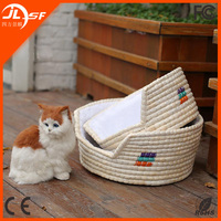 High Quality Handmade Dog House Hot Summer Cool Wricker Dog Bed Cat House