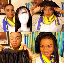 26inch human hair lace front wig in stock cheap remy wig fashion lace front box braid wig