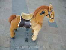 human power running horse toy,ride on plush pony