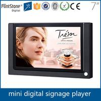 Flintstone 7 inch motion sensor in-store use lcd screens advertising products