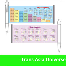 hot sale Professional retractable cheap banner pen with calendar