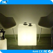 Wedding LED light cube chairs and tables